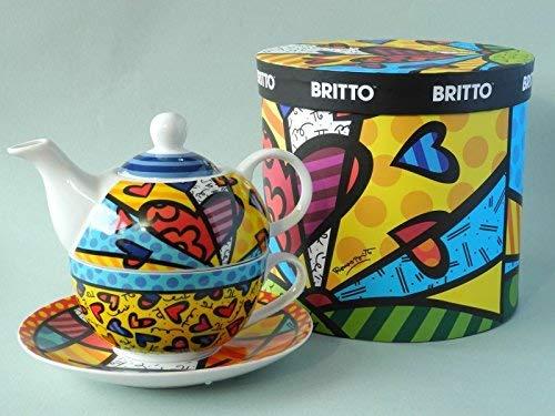 Romero Britto Boxed Bone China Tea-For-One Teacup Set