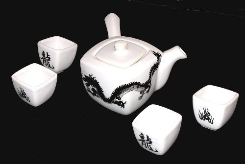 Dinnerware - Dragon motif - Teapot Holding 32 Ounces with 4 cups