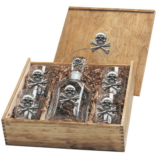 Skull and Bones Capitol Decanter Box Set