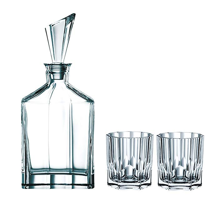 Nachtmann Aspen Decanter Set with Stopper and Whisky Tumblers