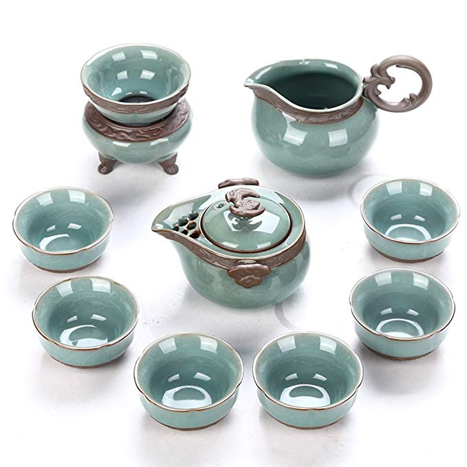 Dehua Porcelain Chinese Style Porcelain Handcrafted Kung Fu Tea Set-Glazed Ceramic
