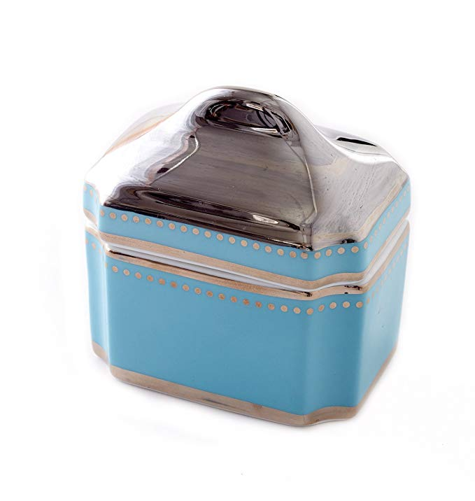 CRU by Darbie Angell Lauderdale Sugar Bowl, Sea Blue/Platinum/White