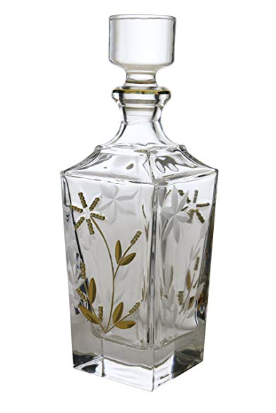 WINE BODIES ZG26207 Liquor Decanters, Gold